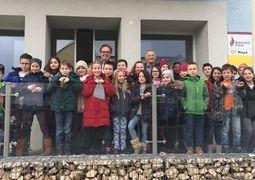Volksschule zu Besuch im Rathaus
